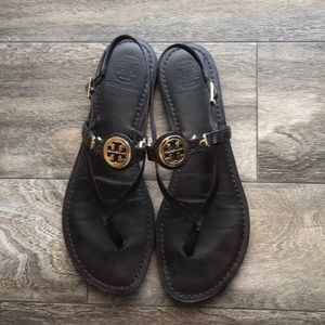 Tory Burch brown sandals. Size 9.5